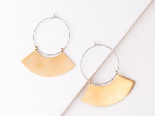 Harper Gold and Silver Hoop Earrings