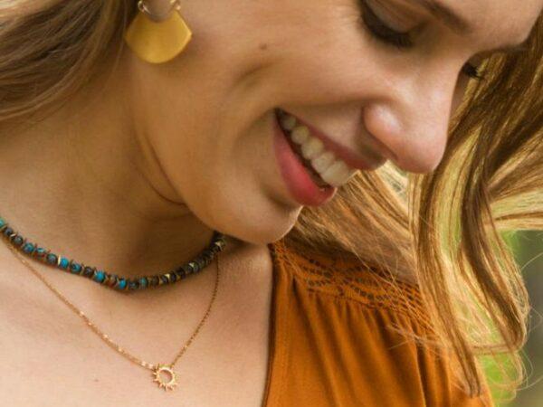 Mallory Gold Sunshine Pendant Necklace