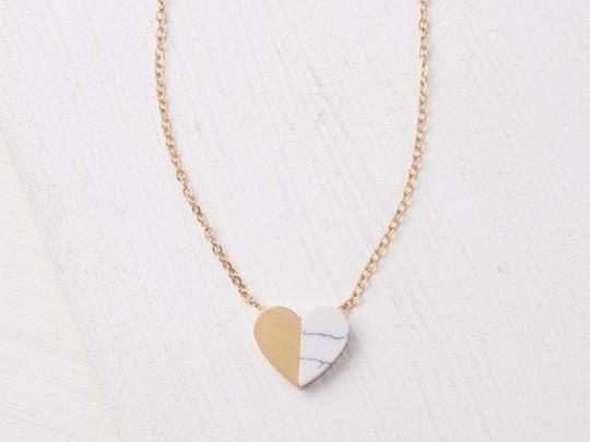 Alexis Gold Heart Pendant Necklace