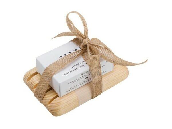 Natural Soap & Dish Gift Set