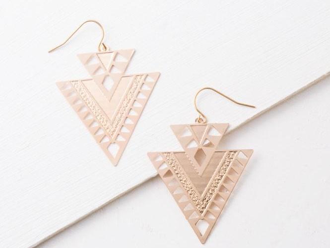 CiCi Gold Geometric Dangle Earrings