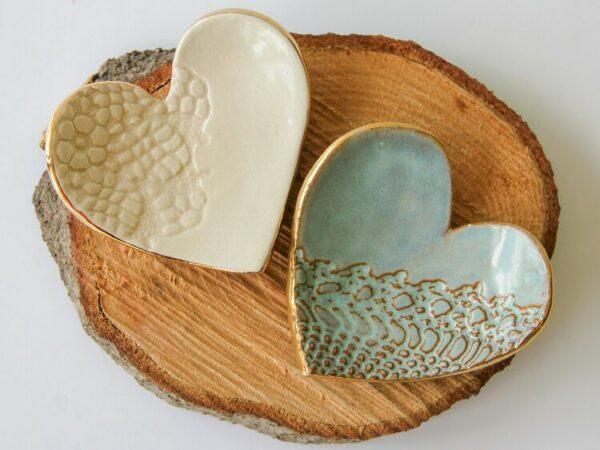 Handmade Heart Ring Dish
