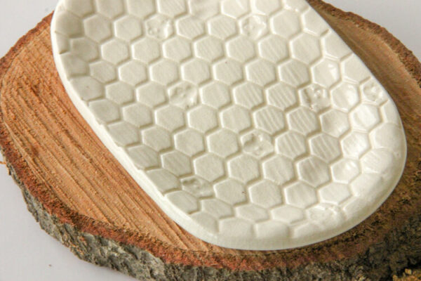Beehive Patterned Soap Dish