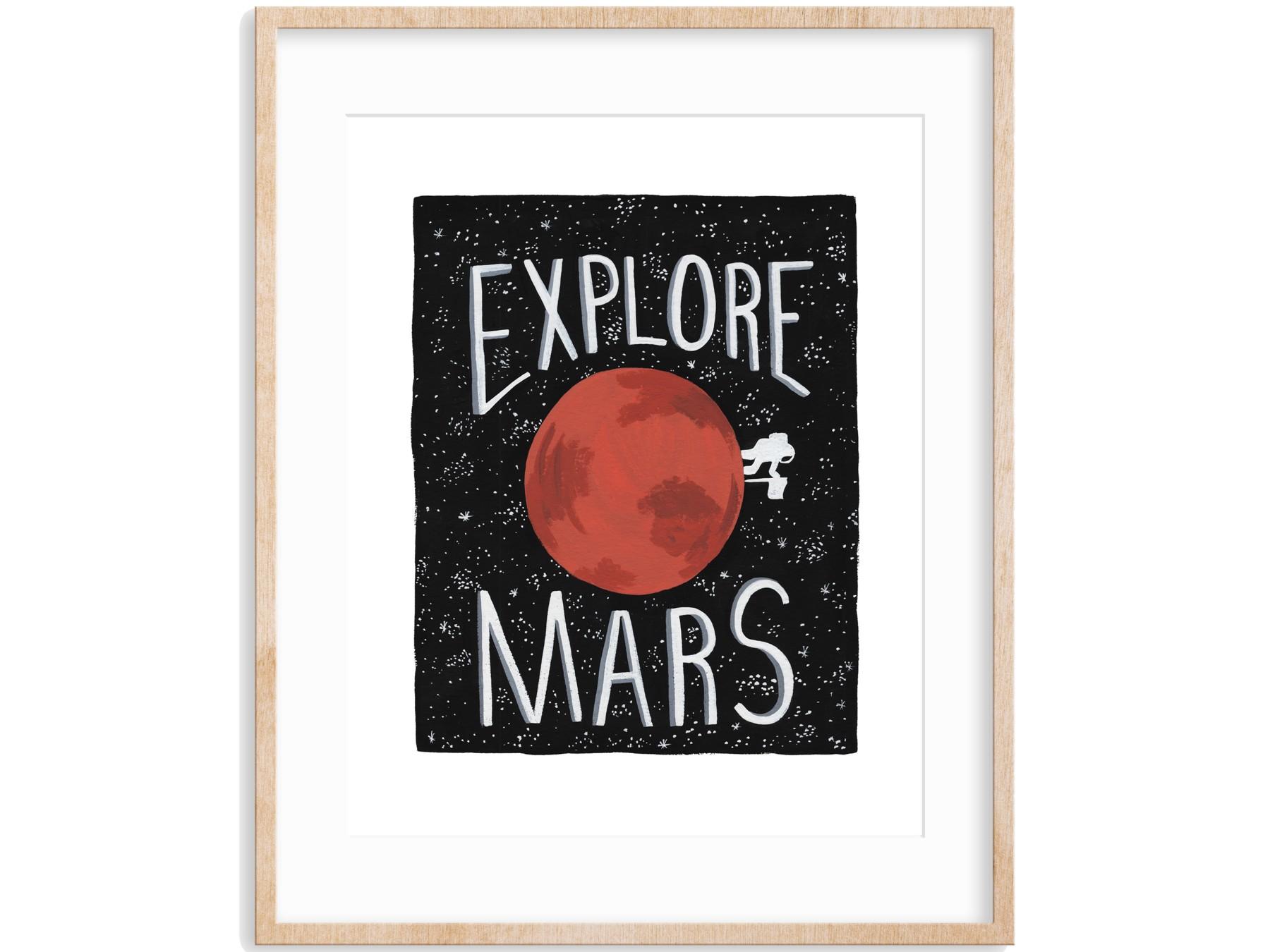Explore Mars Wall Art Print