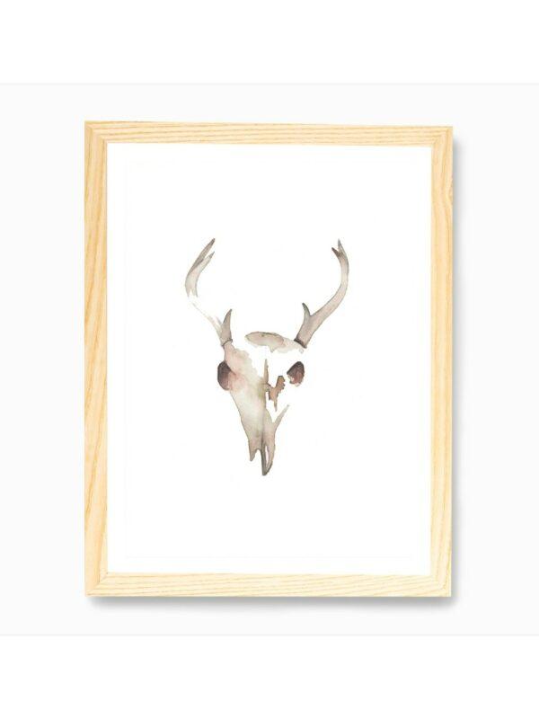 Deer Skull Wall Art Print