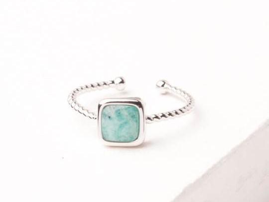 Gianna Silver & Amazonite Ring
