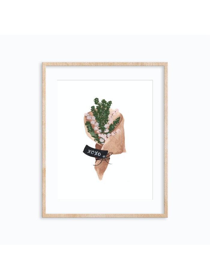 XoXo Bouquet Art Print