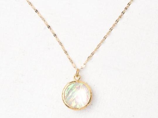 Joelle Gold & Opal Pendant Necklace