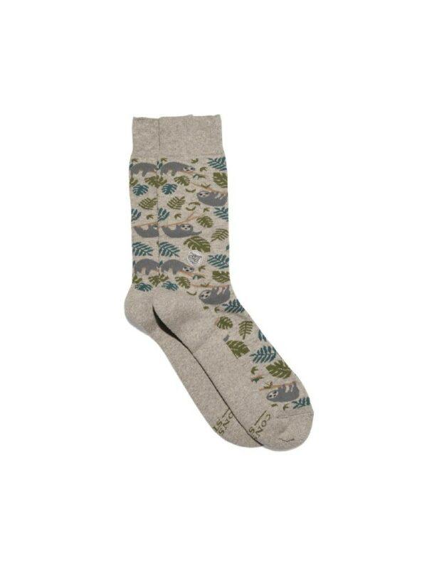 Organic Cotton Socks That Protect Sloths - Medium