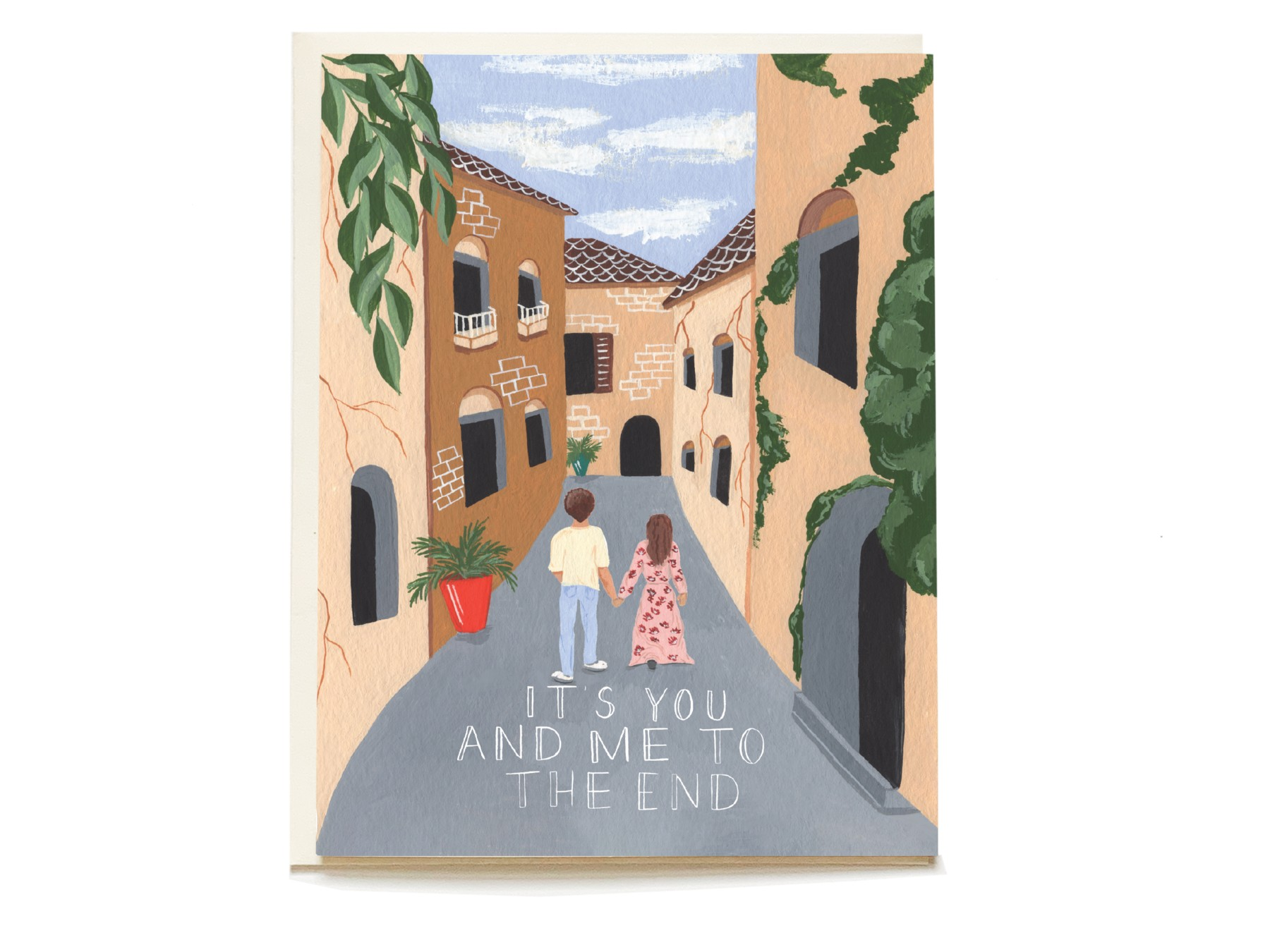City Stroll Love Blank Card