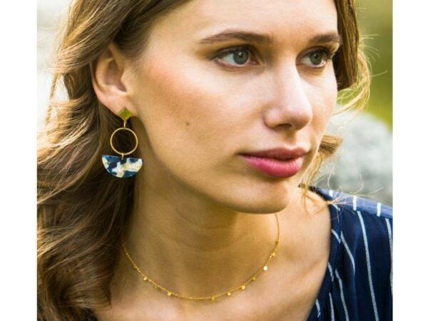 Evelyn Gold Drop Adjustable Necklace