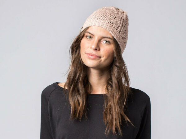 The Hayley Beanie - Pale Rose