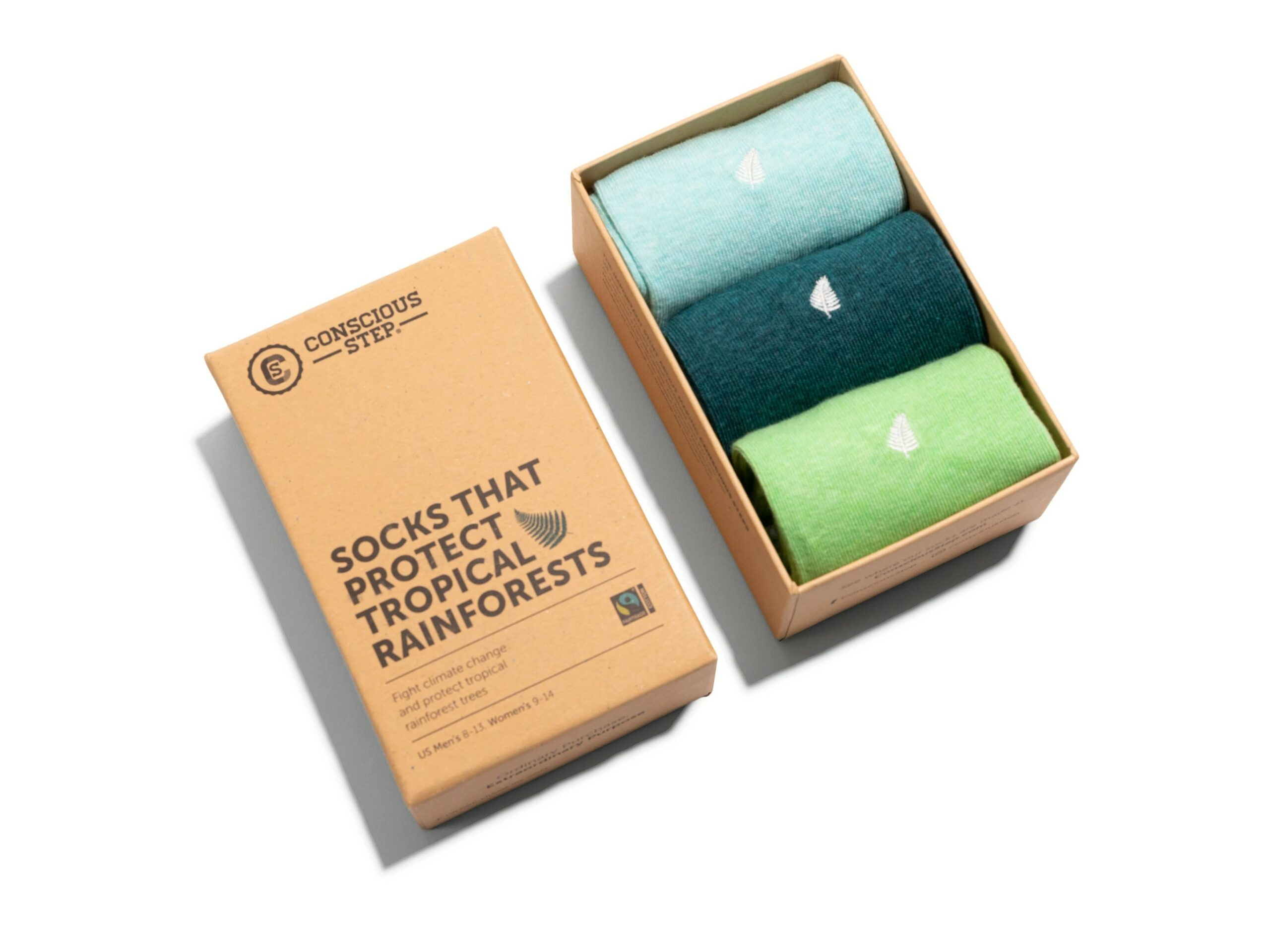 Organic Cotton Socks that Protect the Tropical Rainforests Gift Box – Medium