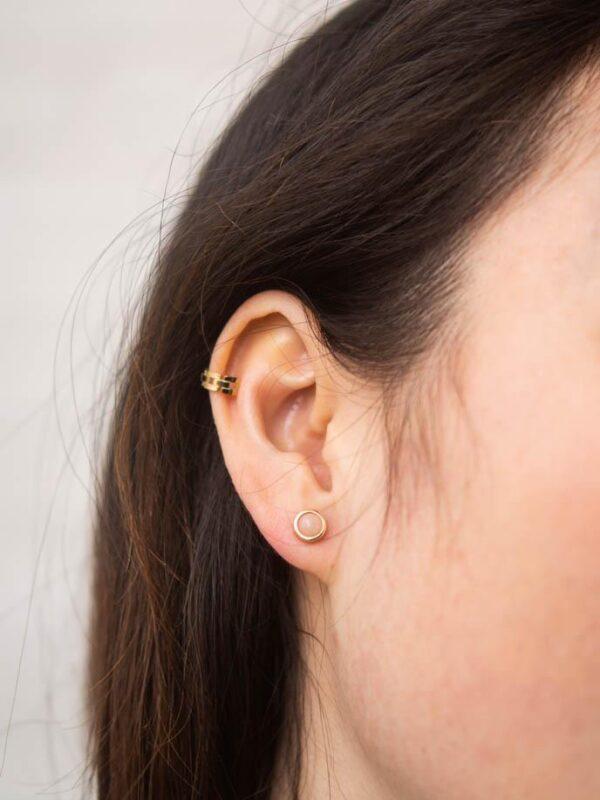 Laurel Gold Hoop Ear Cuffs