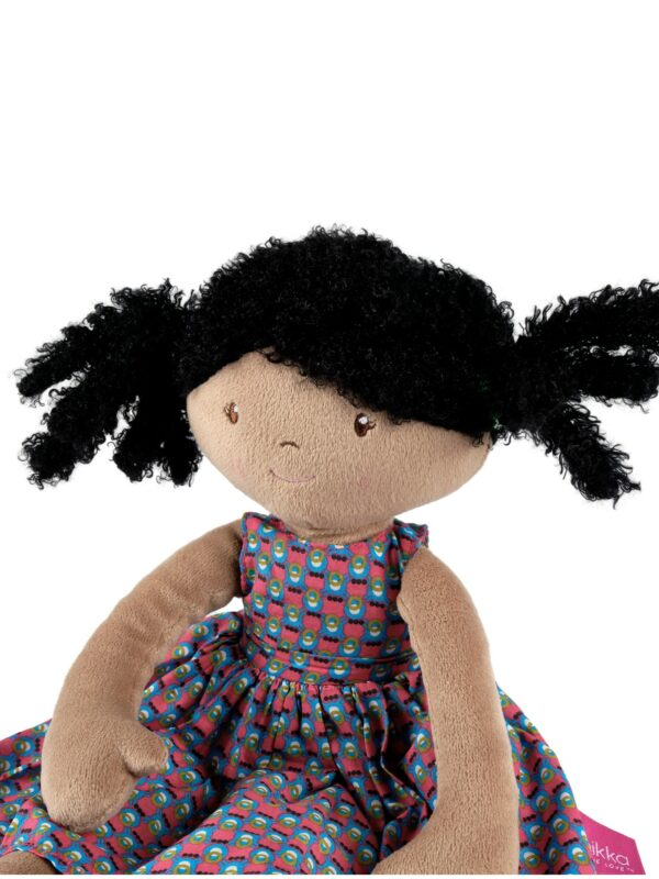 Meiya the Mouse - Lovey with Rubber Head Toy in Floral Dress