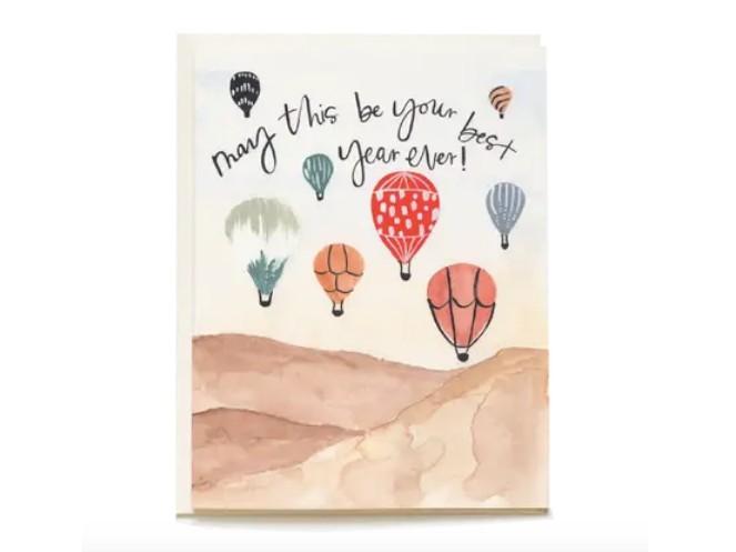 Balloon Festival Blank Birthday Card