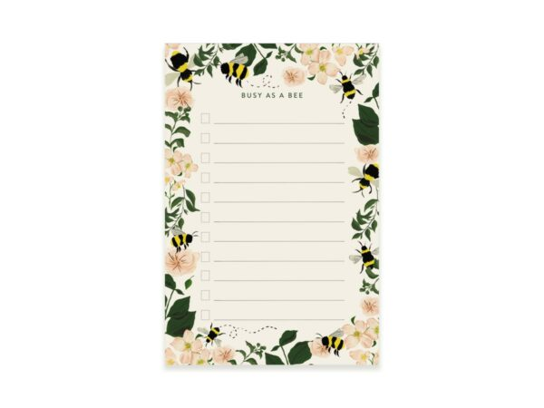 Busy Bee Writing Notepad