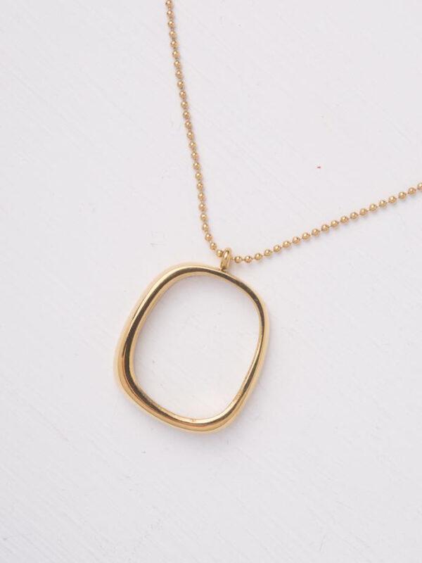 Hyacinth Long Gold Pendant Necklace