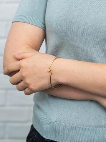 Bethany Gold Cuff Bracelet