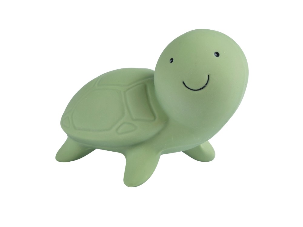 Turtle – Natural Rubber Teether, Rattle & Bath Toy
