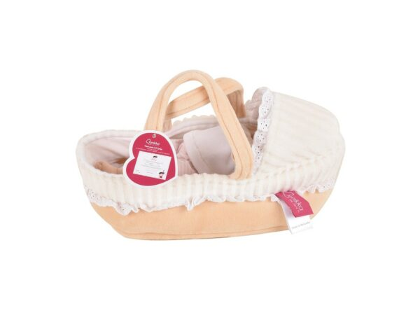 Carry Cot With Baby Grace Doll, Bottle & Blanket