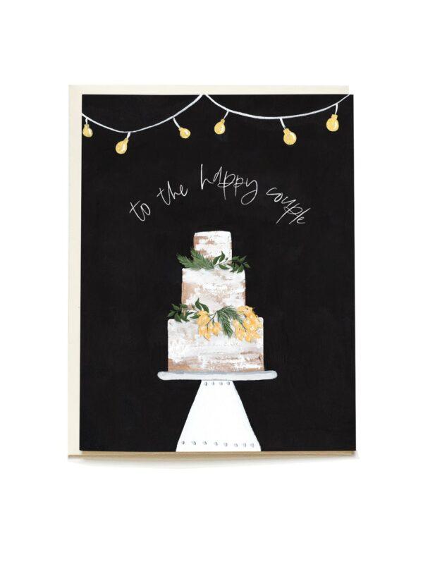 Decorative Cake Blank Wedding Card