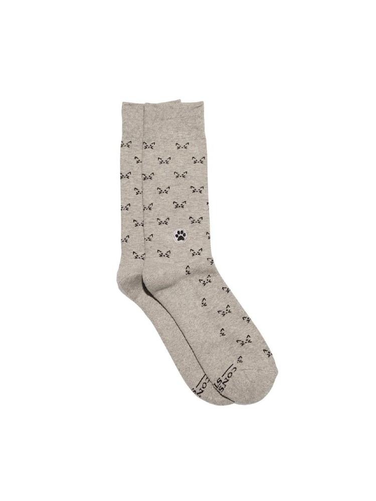 Organic Cotton Socks That Save Cats – Small