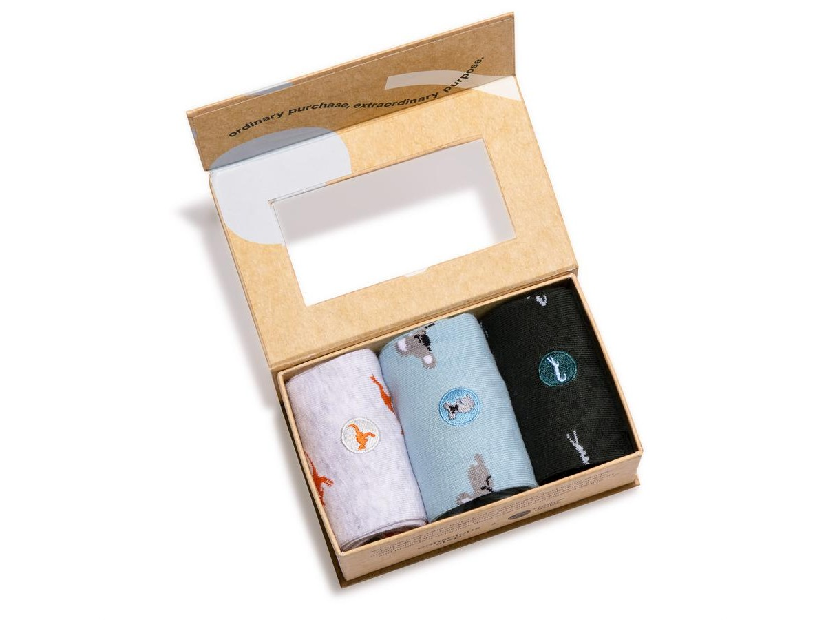 Organic Cotton Socks That Protect the Animals Gift Box – Small