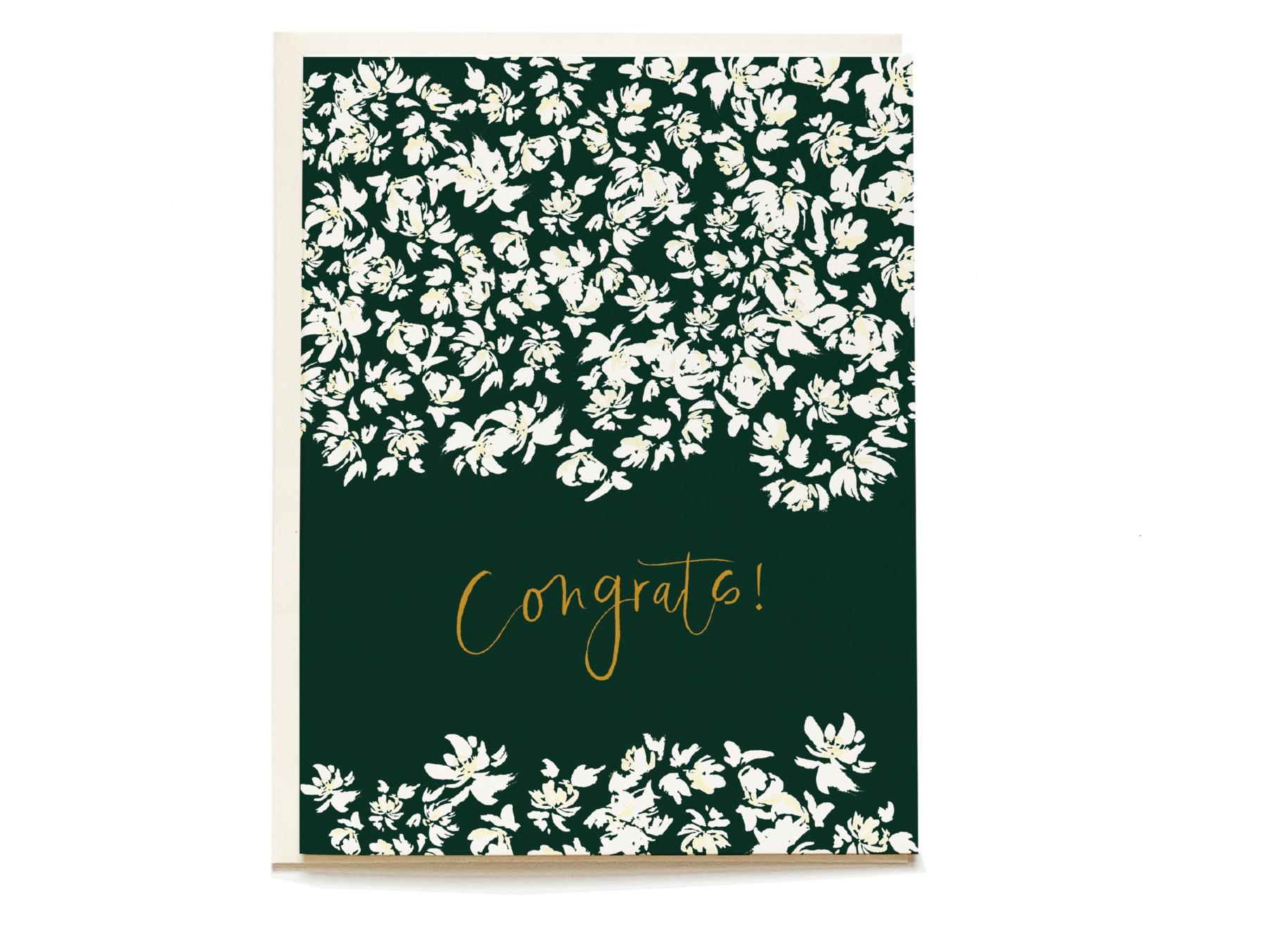 Emerald Posy Congrats Card