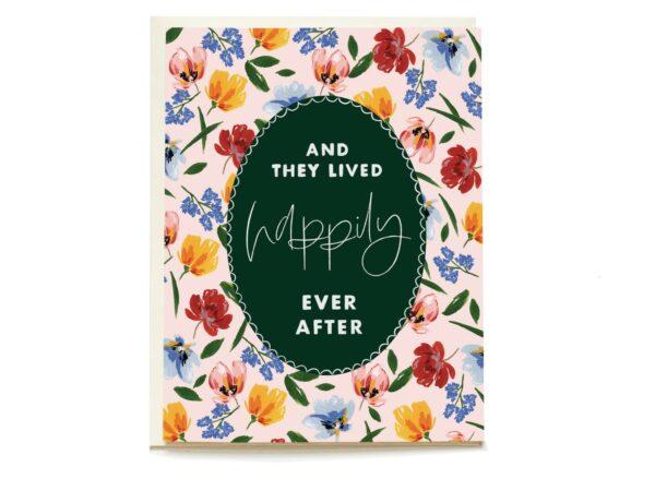 Storybook Ending Blank Wedding Card