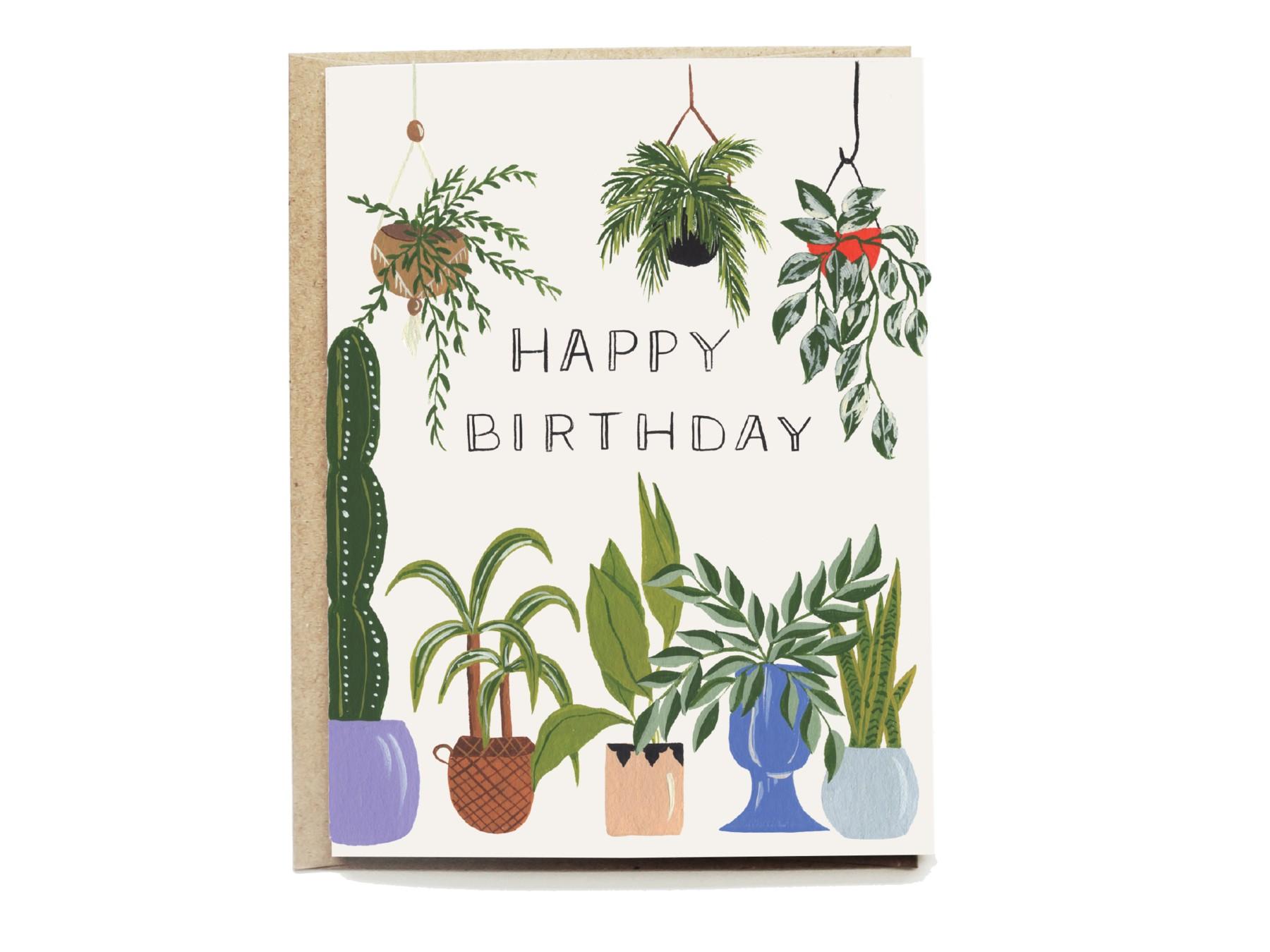 Plant Lover Birthday Card