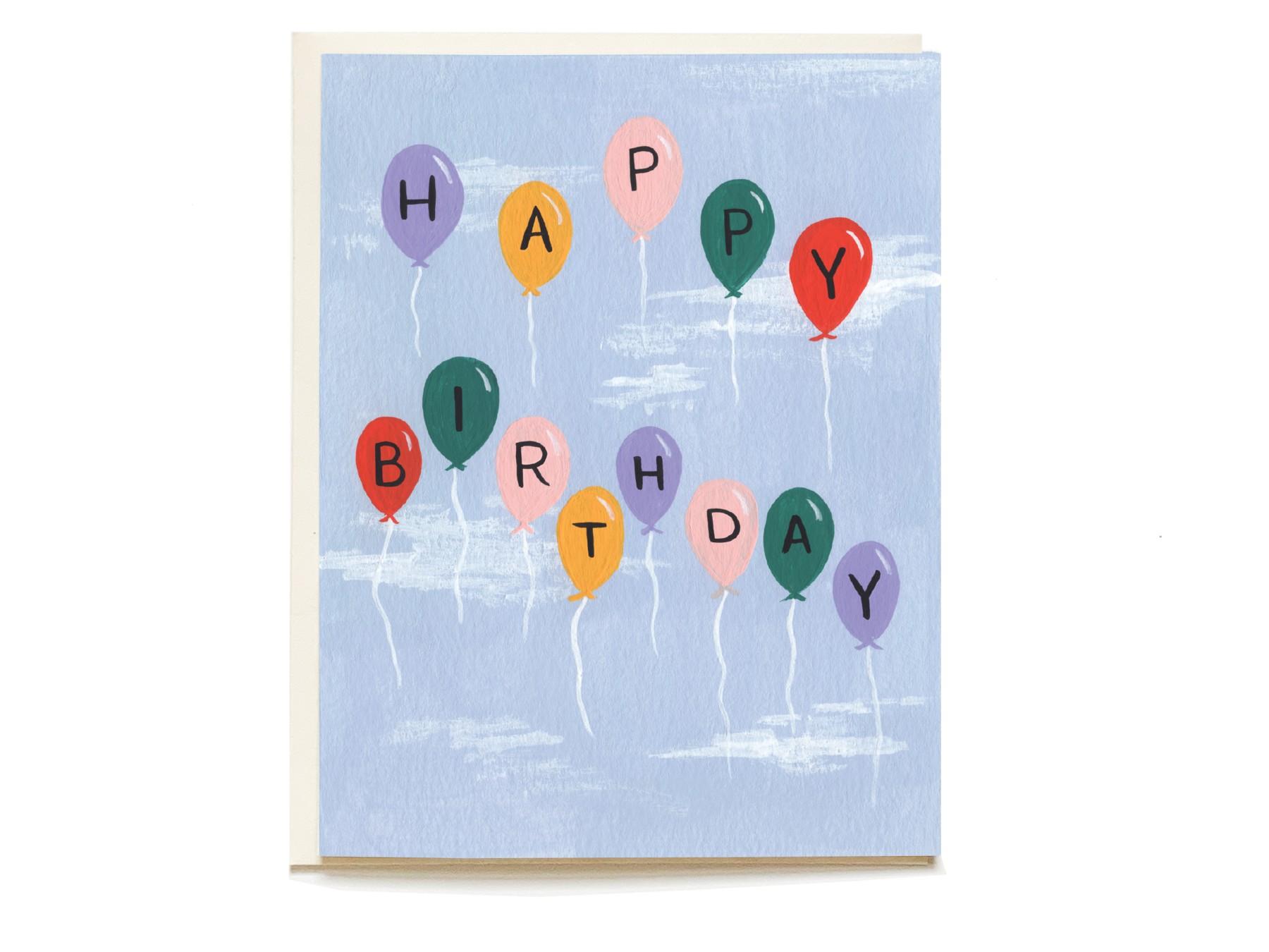 Sky High Birthday Card