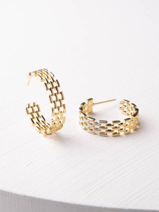 Laurel Gold Hoops