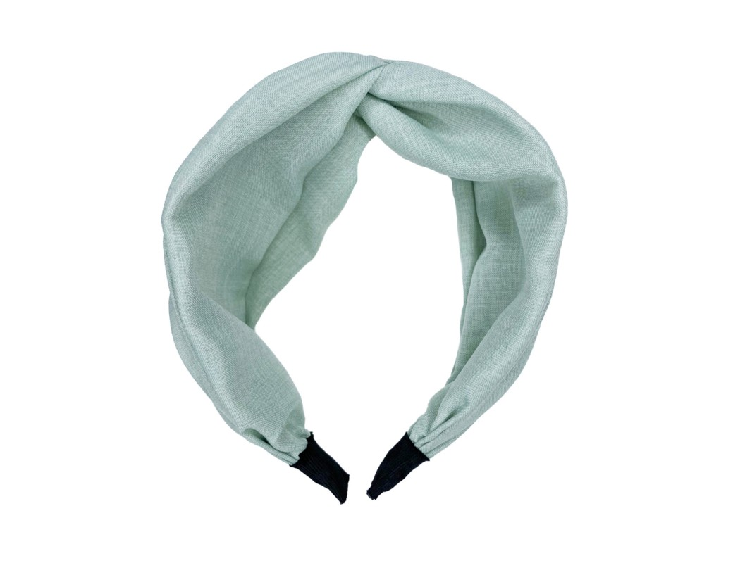 Olive Linen Twist Headband