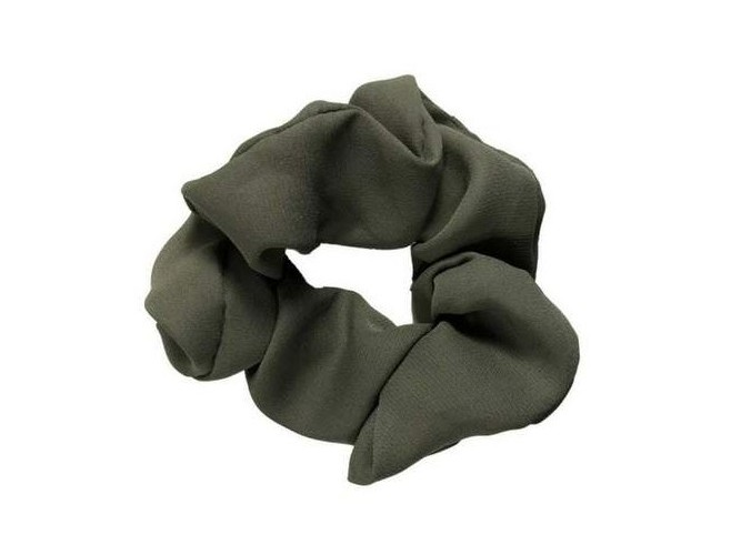 Solid Olive Hair Scrunchie