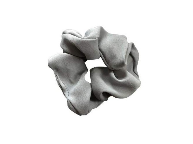 Solid Grey Hair Scrunchie
