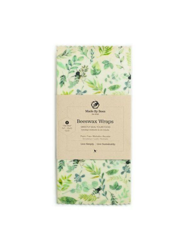 Handmade Beeswax Wraps - Leafy Greens