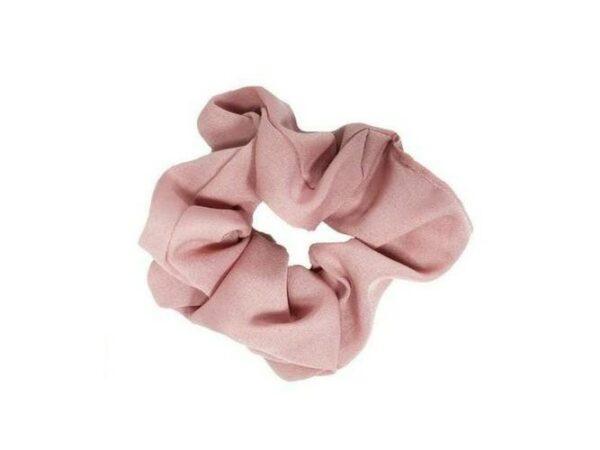 Solid Pink Hair Scrunchie