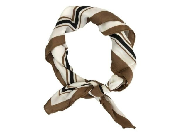 Camel & White Head Scarf Wrap