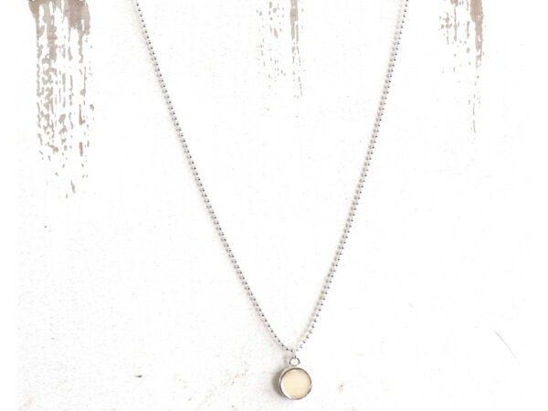 Angie Pendant Necklace - Silver Bone