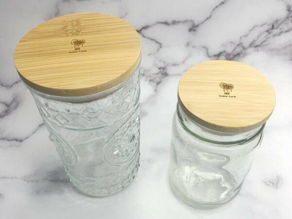 Bamboo Mason Jar  Storage Lid