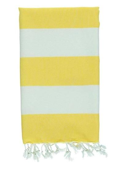 Biarritz Striped Turkish Towel – Yellow/White