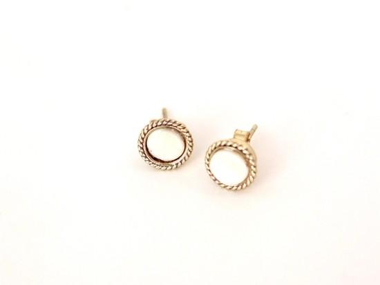 Boudron Earrings – Bone