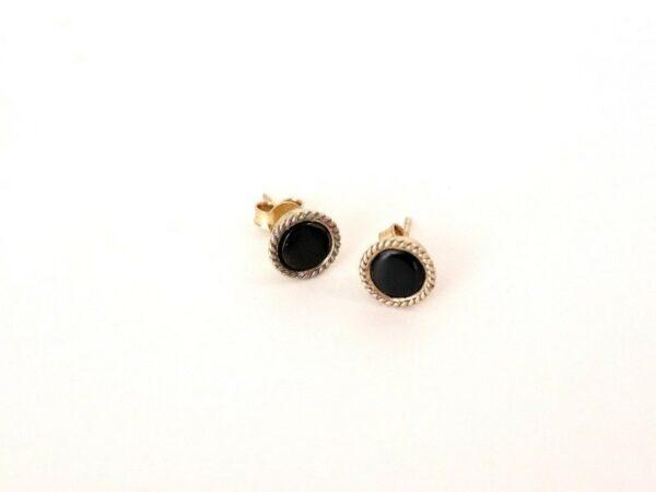 Boudron Stud Earrings - Horn