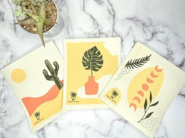 Swedish Cellulose Dish Cloths: 3-Pack