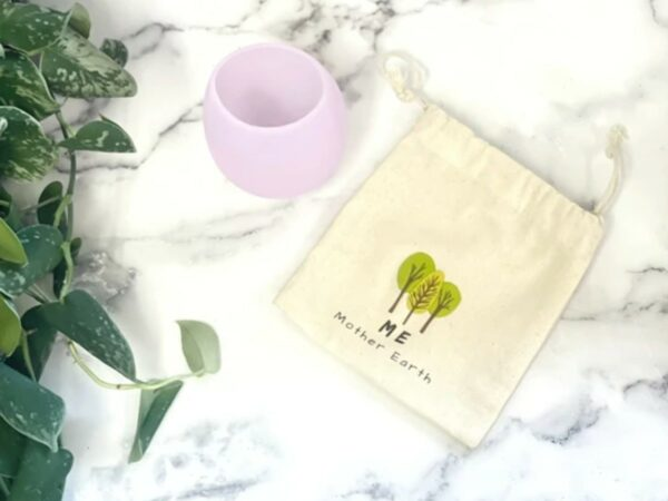 Silicone Reusable Travel Wine Glass + Bag