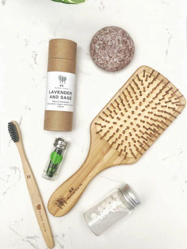 Bamboo Detangling Paddle Hairbrush