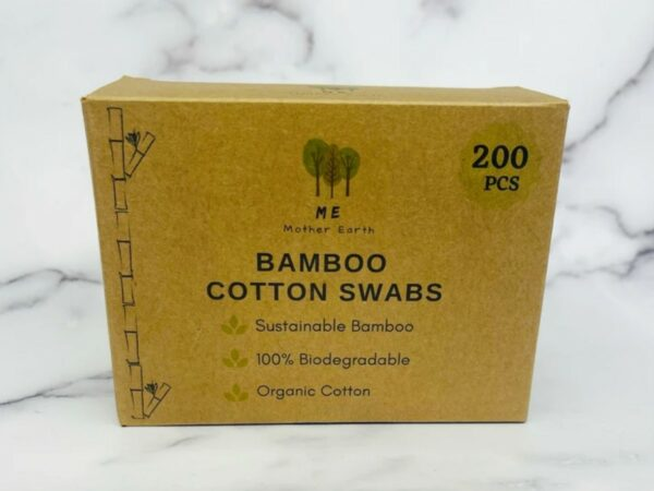 Biodegradable Bamboo Cotton Swabs - 200 Count