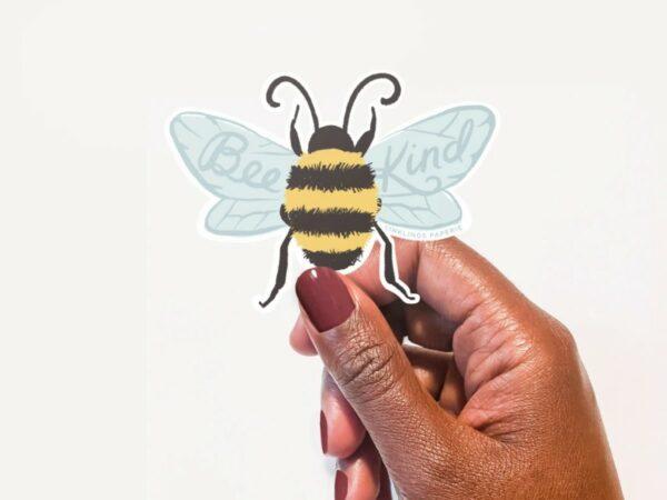Bee Kind Vinyl Sticker