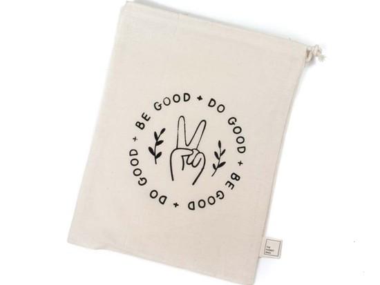 Large Organic Cotton Grocery Bulk Bag - Be Good Do Good